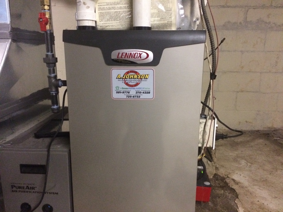 East Greenbush, NY - Preventive maintenance on a Lennox gas furnace