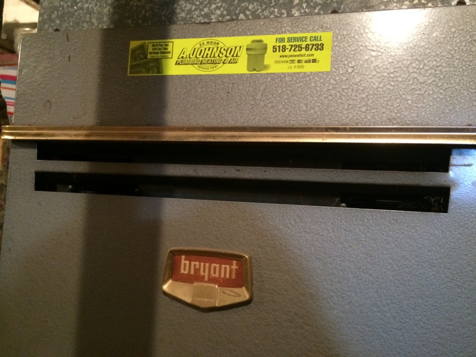 Canajoharie, NY - Preventive maintenance on a Bryant gas furnace