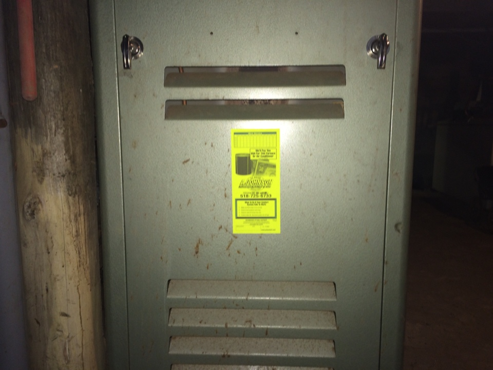 Caroga, NY - Preventive maintenance on a Bard oil furnace