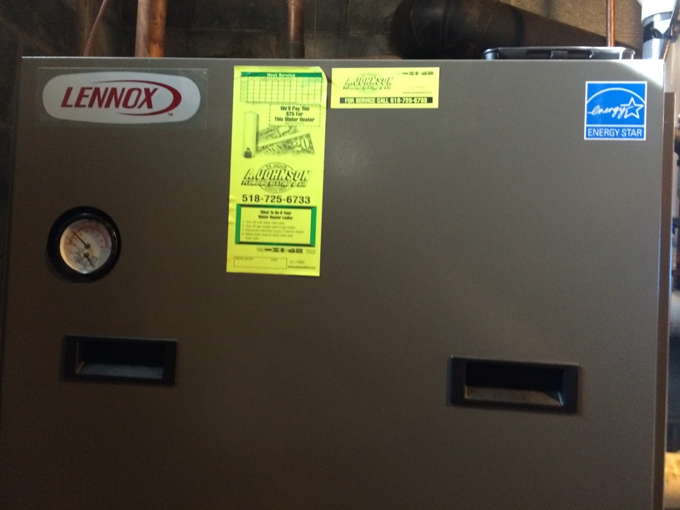Guilderland, NY - Preventive maintenance on a Lennox gas boiler