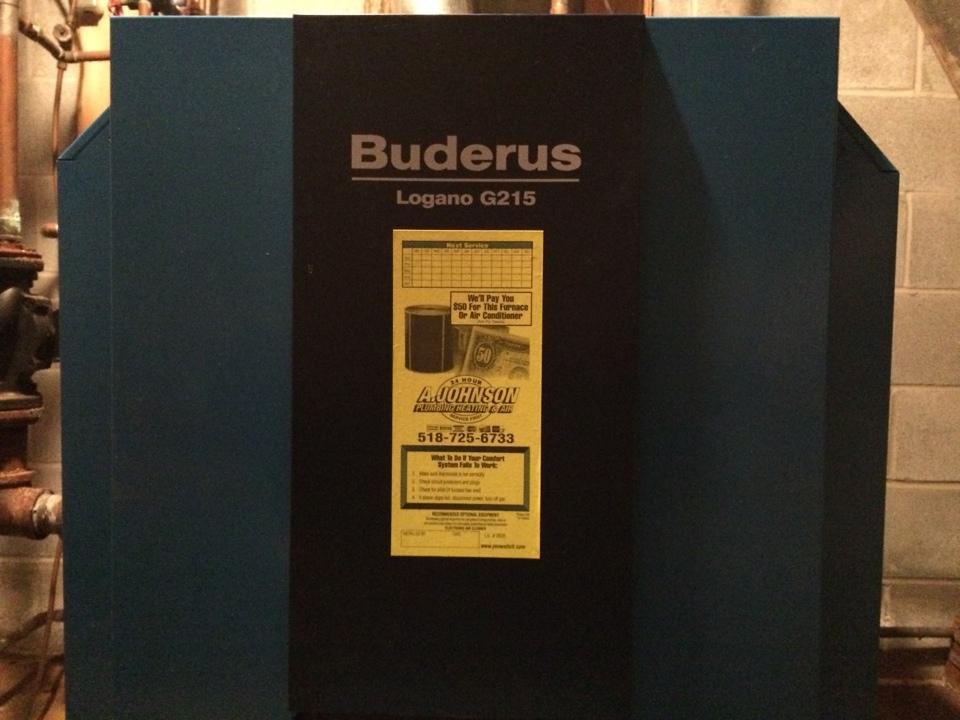 Fort Johnson, NY - Preventive maintenance on a Buderus oil boiler