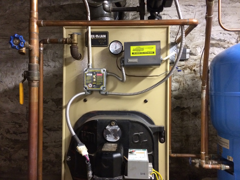 Cobleskill, NY - Preventive maintenance on a Weil McLain oil boiler