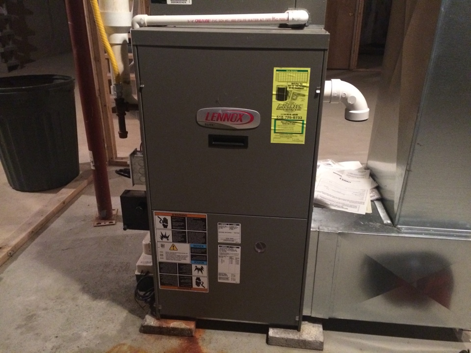 Stillwater, NY - Preventive maintenance on a Lennox LP furnace