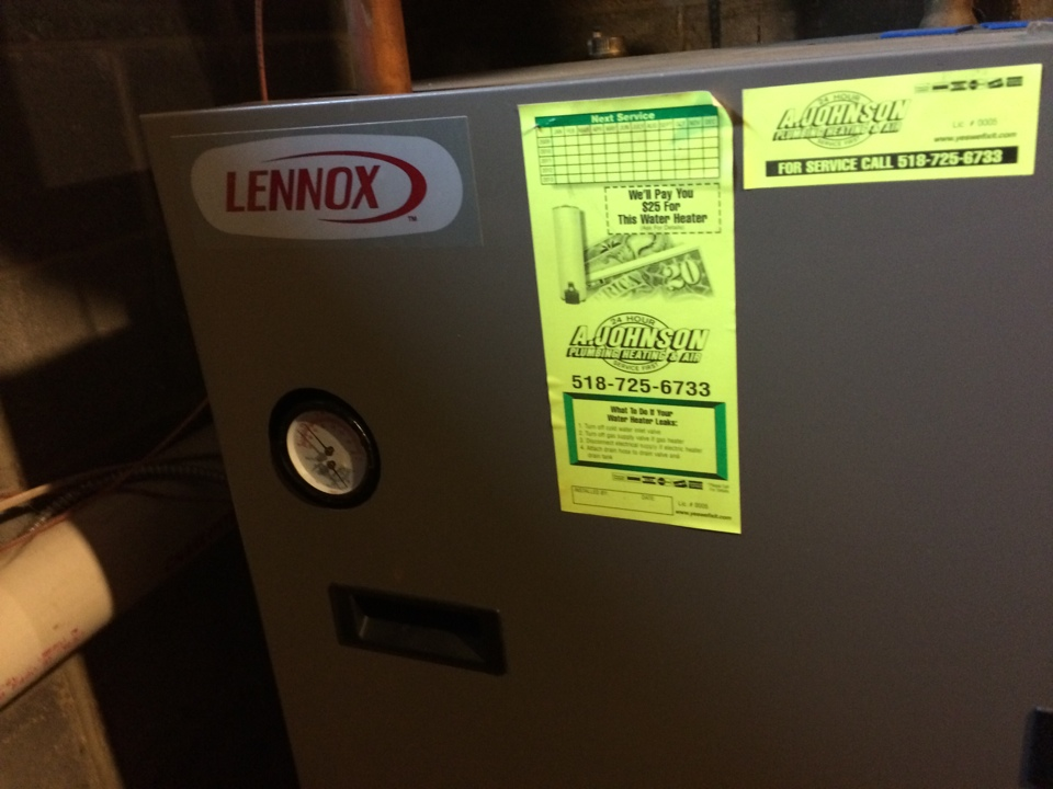 Guilderland, NY - Repair water leak on Lennox condensing as boiler