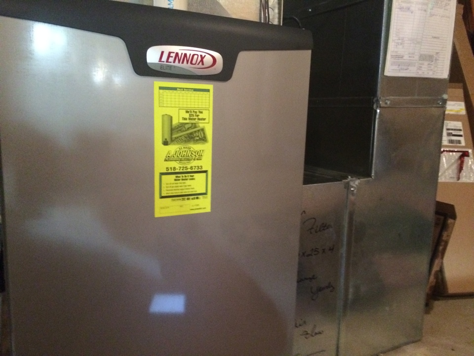 Rexford, NY - Preventive maintenance on a Lennox gas furnace