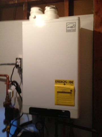 Colonie, NY - Installation of new triangle tube boiler