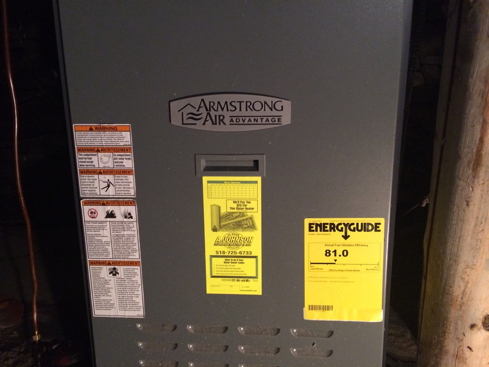 Fort Plain, NY - Repair an Armstrong oil furnace