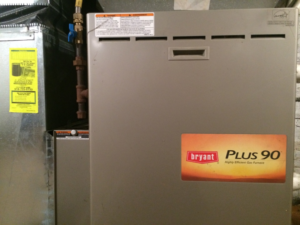 Greenwich, NY - Preventive maintenance on a Bryant gas furnace