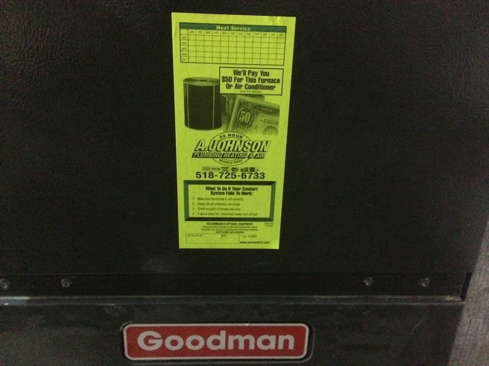 Albany, NY - Preventive maintenance on a Goodman gas furnace