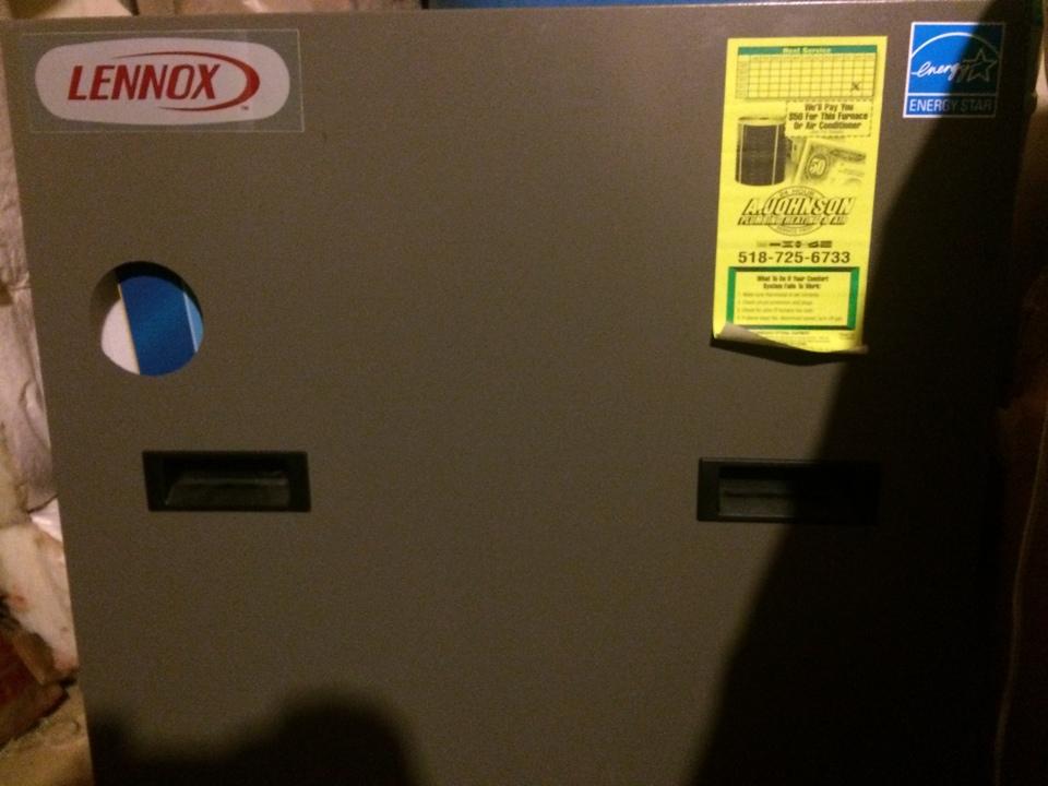 Cobleskill, NY - Preventive maintenance on a Lennox gas boiler