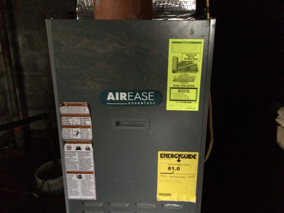 Broadalbin, NY - Repair Air Ease oil furnace