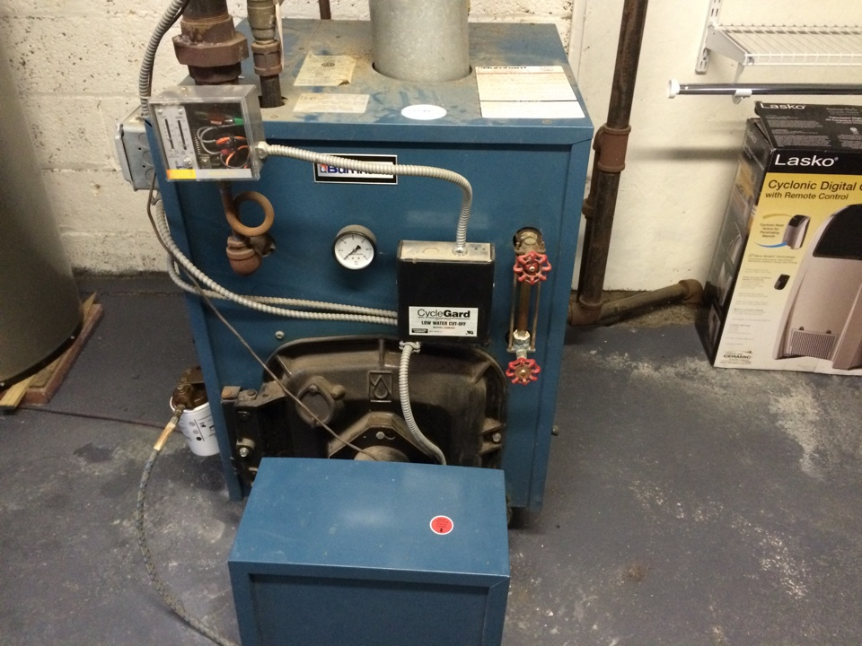 Canajoharie, NY - Repair   a Burnham oil steam boiler