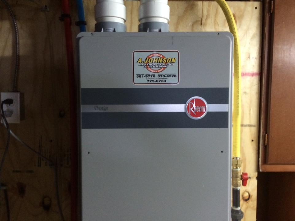 Albany, NY - Service a Rheem tankless hot water heater