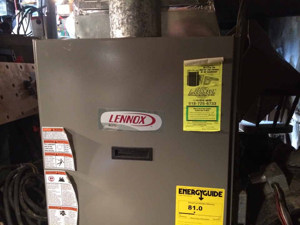 Fort Plain, NY - Service a Lennox oil furnace