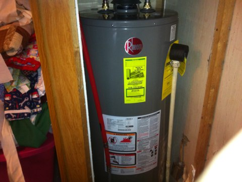 Perth, NY - Rheem 40 gallon nat. gas hot water heater installation