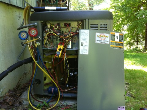 Queensbury, NY - Lennox (hybrid heating n cooling system with solar panel) gas furnace with heat pump for a/c n heat
