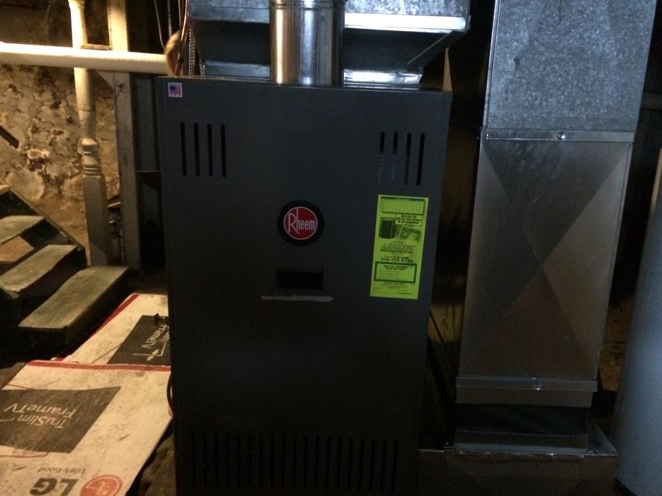 Mayfield, NY - Rheem oil furnace install