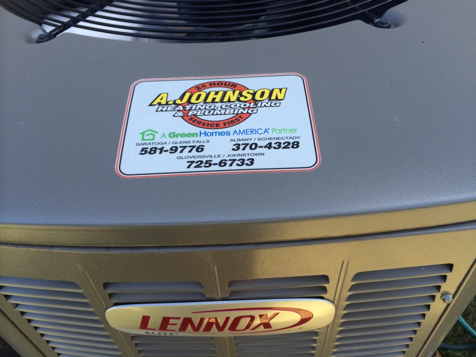 Colonie, NY - Lennox gas furnace and air conditioner tune up
