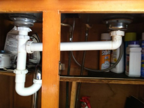 Canajoharie, NY - Drain line repair under kitchen sink
