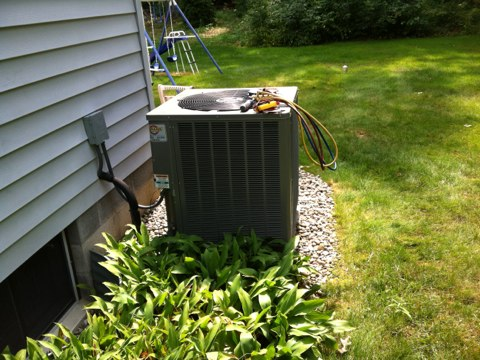 Wilton, NY -  Rheem Natural gas furnace and a/c inspection ,Yearly Maintenance Program Tested Fan,Compressor and Cleaned AC Unit and Furnace and set up customer Yearly Maintenance Program