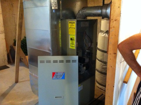 Galway, NY - Oil heat furnace service call. Oil fired Bard furnace required its annual cleaning and tune-up. Cleaned Unit and and set up customer Yearly Maintenance Program