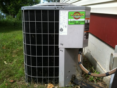 Edinburg, NY - AC service call. Carrier central air conditioner inspection . Upon inspection found outdoor unit condenser  capacitor leaking and replaced had customer get our  Yearly Maintenance Program