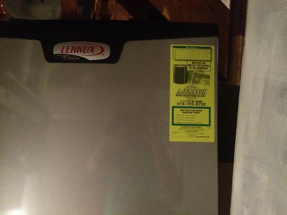 Rexford, NY - Inspect a Lennox gas furnace