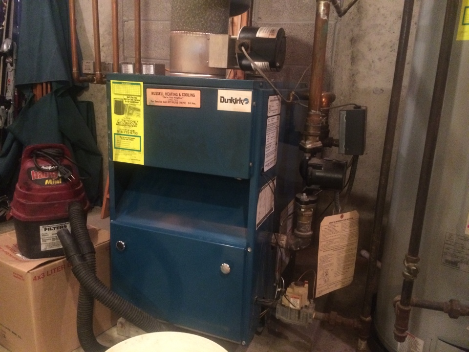 Ballston Lake, NY - Service a Dunkirk gas water boiler