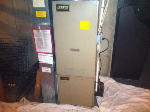 Middle Grove, NY - Furnace repair. Needed to replace the combustion end cone for Lennox oil fired furnace. Needed to do the annual maintenance and cleaning