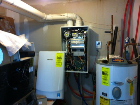 Lake George, NY - Heating repair call for on demand Navian tankless hot water heater service and tune up ,and set up customer with Yearly Maintenance