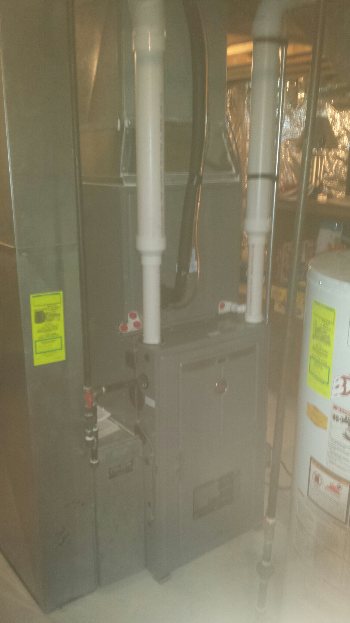 Clifton Park, NY - Rheem signature furnace install with rheem 13 seer air conditionong