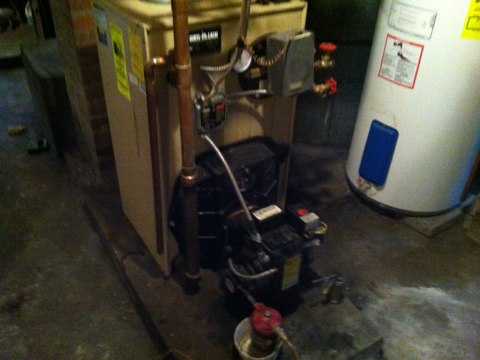 Northampton, NY - Weil McLain oil boiler cleaning and safety check completed