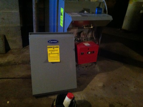 Root, NY - Carrier oil fired furnace cleaning and safety check completed