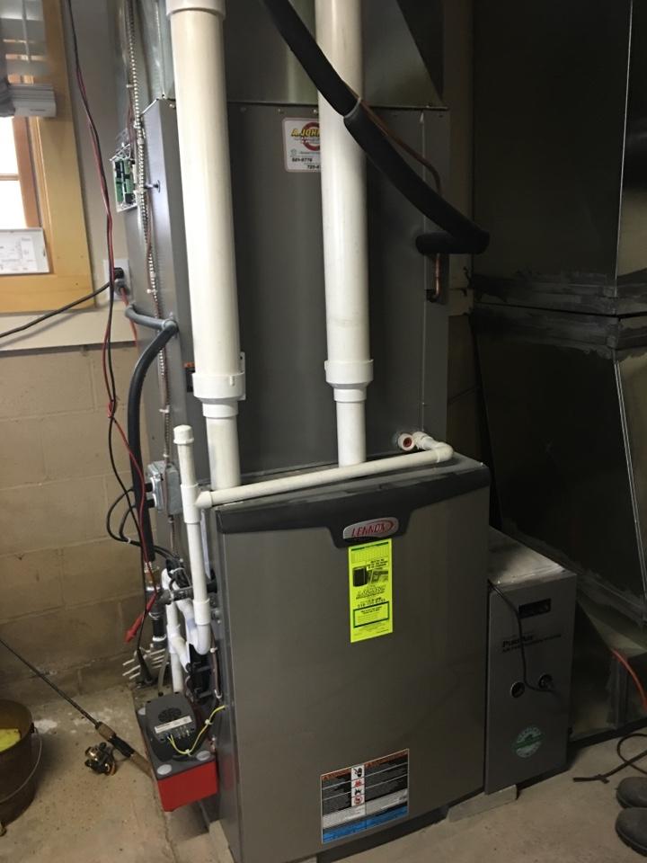 Lake Pleasant, NY - Repair off Lennox furnace and heat pump