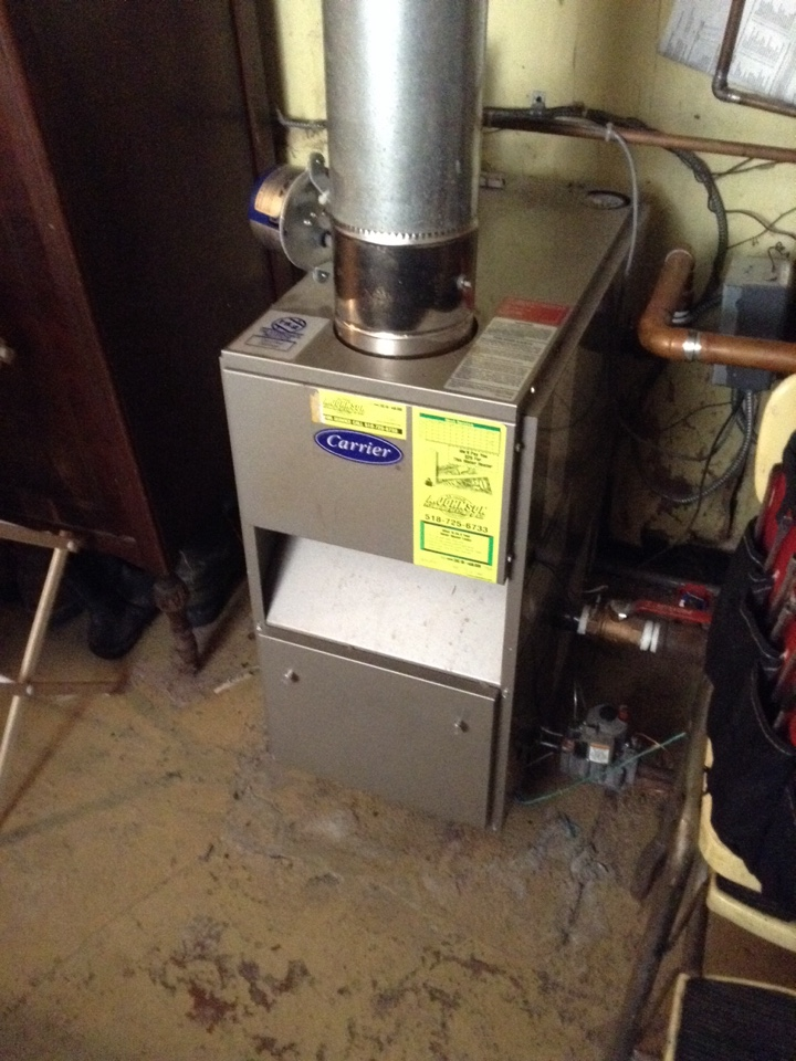 Fonda, NY - Heating repair on a Carrier Boiler