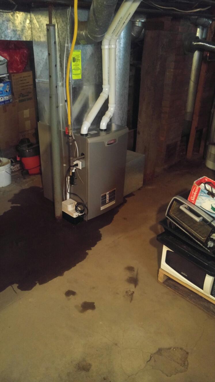 Gloversville, NY - Heating service and maintenance on  Lennox gas furnace