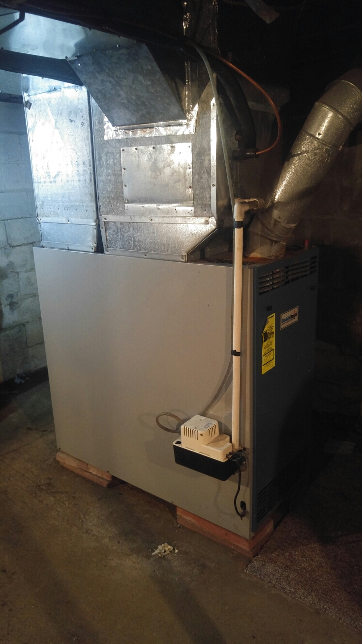 Broadalbin, NY - Oil furnace maintenance and repair. replaced Blower motor