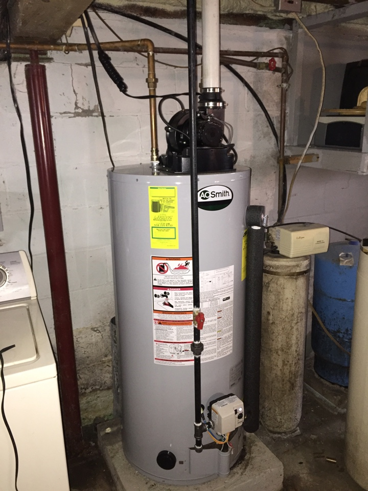 Hagaman, NY - Replaced existing hot water heater with new AO smith power vents, gas hot water heater.