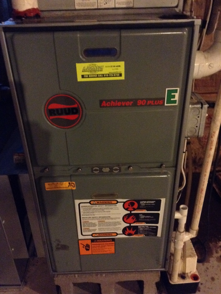 Saratoga Springs, NY - Heating repair Rudd warm air furnace repair.