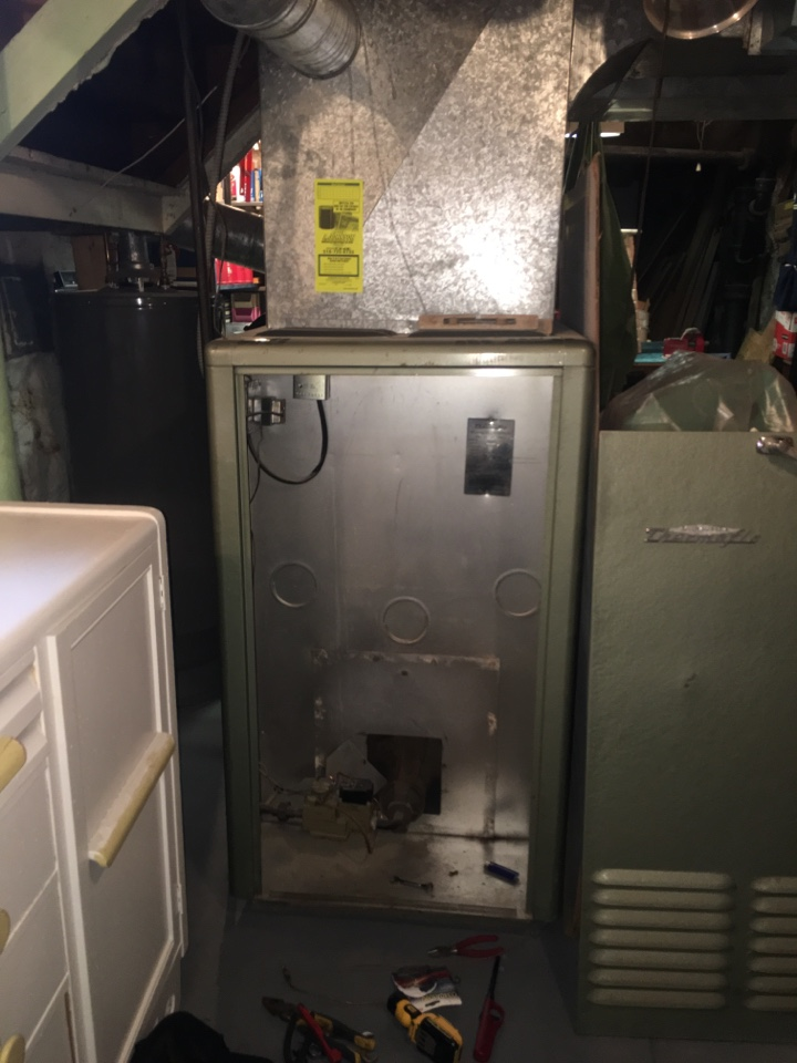 Gloversville, NY - No heat furnace repair on Thermoflo gas hot air furnace