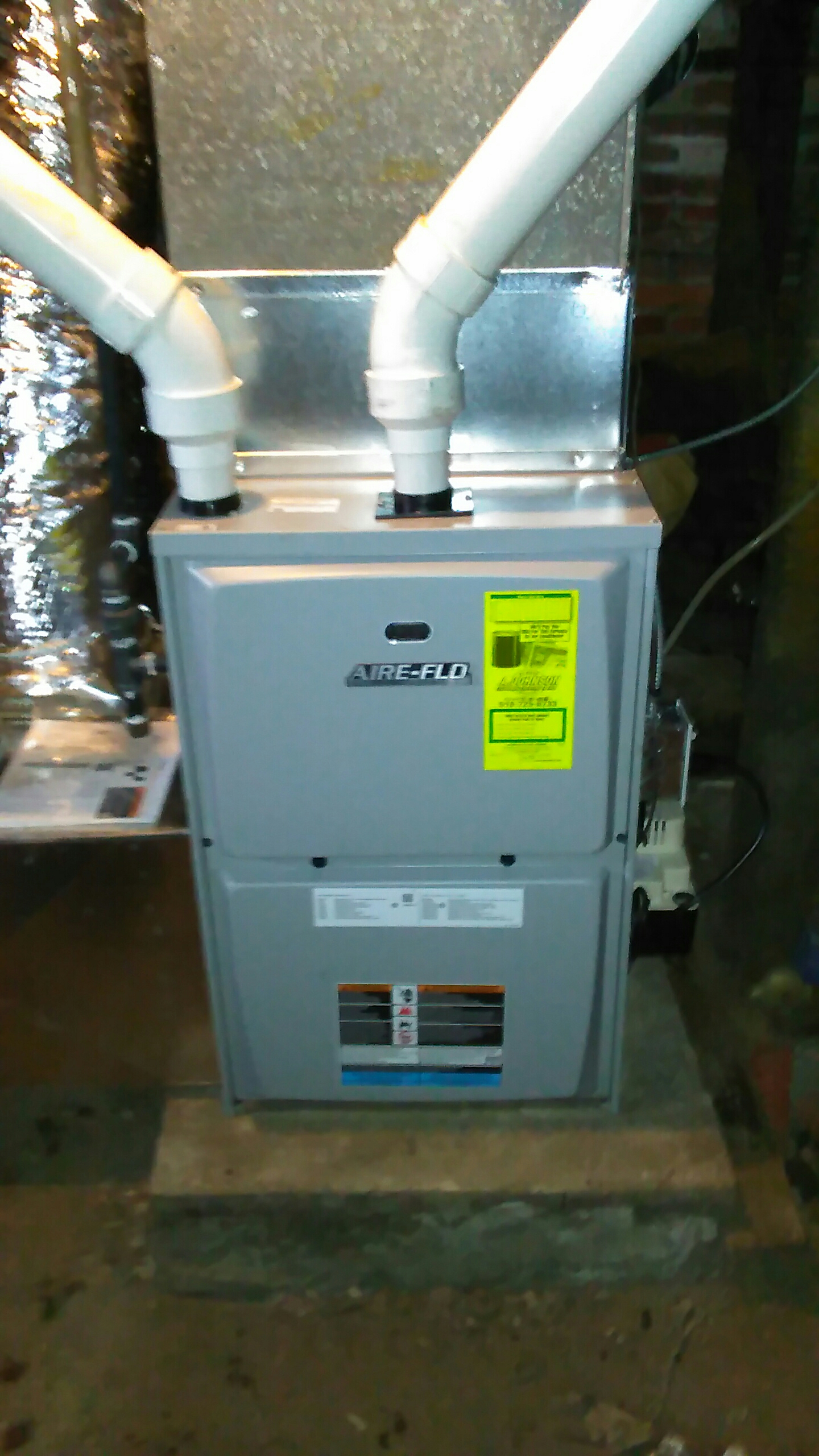 Fonda, NY - Installed a aire Flo high efficiency furance