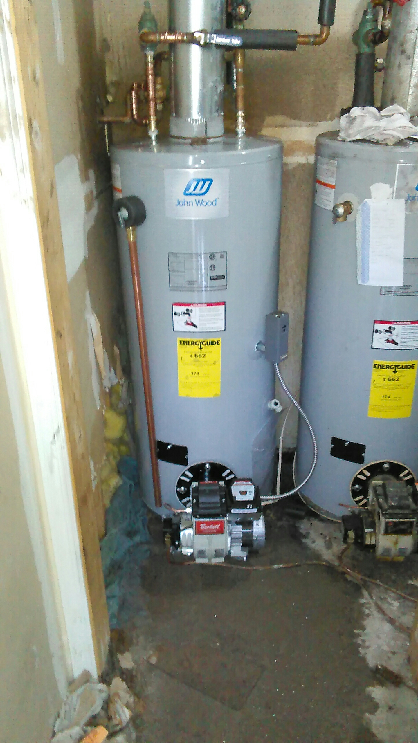 Broadalbin, NY - Installed a John wood oil burned water heater.