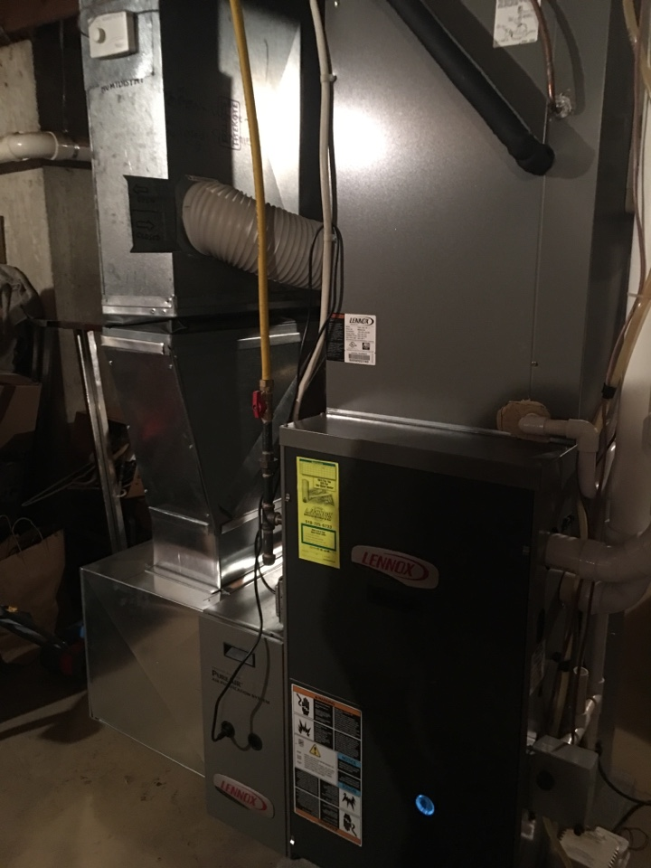 Gansevoort, NY - Replaced carrier furnace and Installed new Lennox hot air furnace with new Lennox air-conditioning