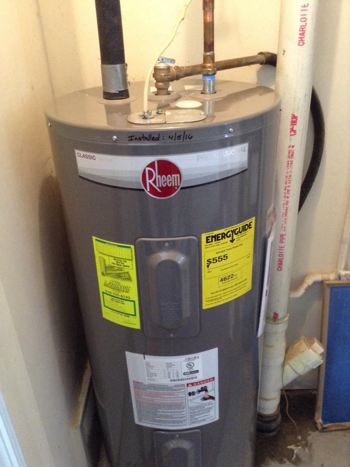 Gloversville, NY - Plumbing service water heater install