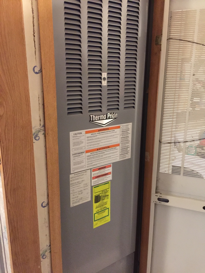 Ballston Spa, NY - Replaced existing propane furnace with new thermo Pride high efficiency propane furnace.