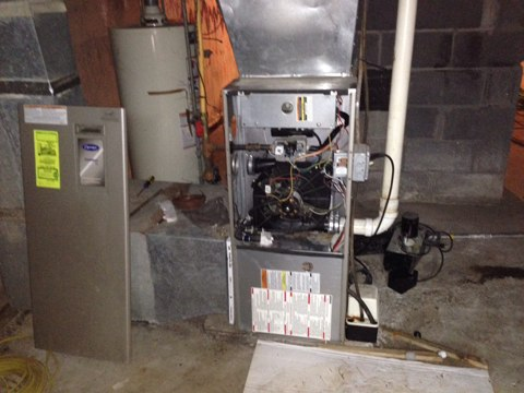 Palatine Bridge, NY - Installation of a new heat exchanger for a carrier gas furnace