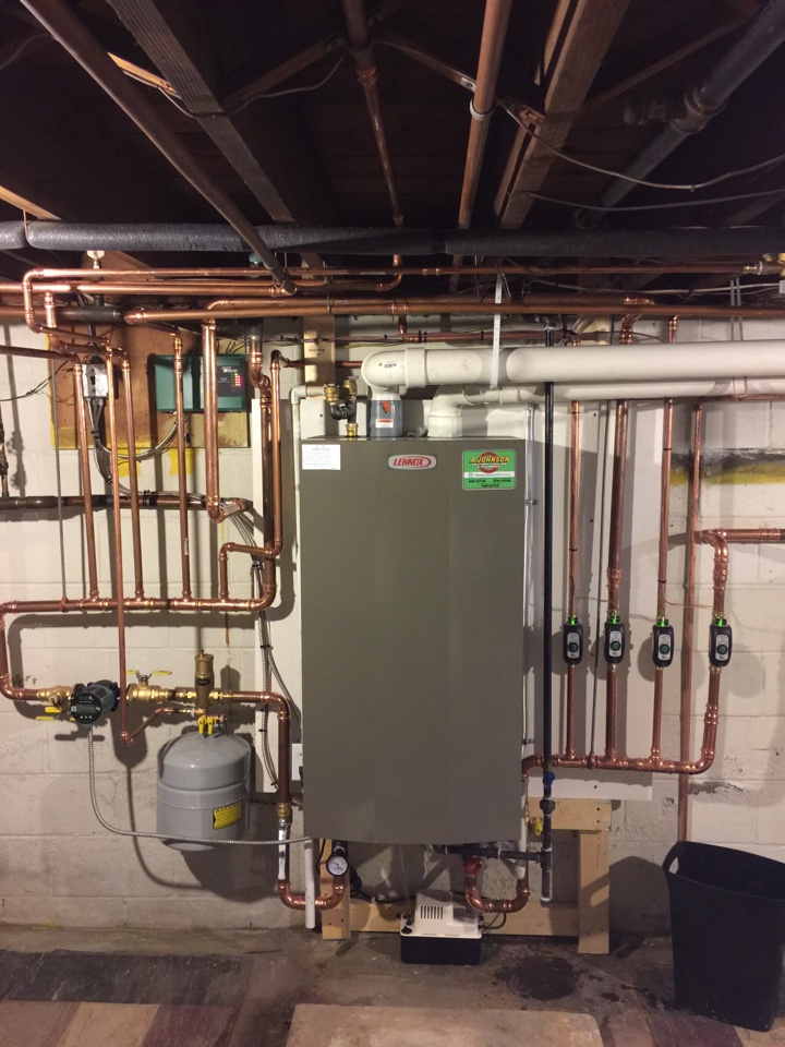 Northville, NY - Replaced existing boiler with new Lennox high efficiency propane boiler.