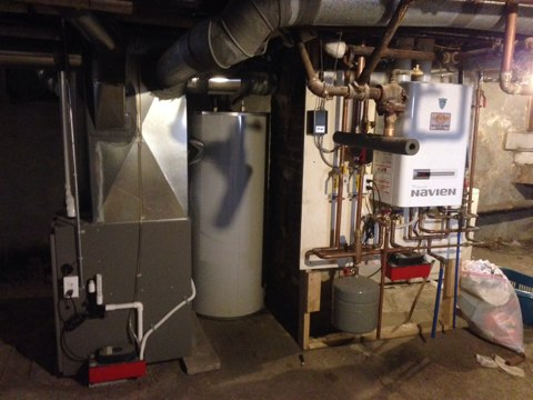 Troy, NY - Service Navian tankless boiler and Lennox furnace