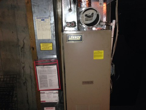 Middle Grove, NY - Install new end cone in Lennox oil fired furnace
