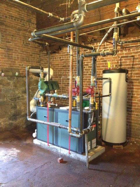Greenwich, NY - Oil boiler repair , Customer Converting oil boiler to natural gas .